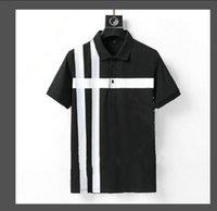 2021 Neue Sommer Stickerei Baumwolle Revers Herren Designer T Shirts Modische und einfache Designer Hemden Größe M-3XL