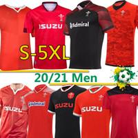 Galler Rugby Ulusal Takım Formalar Cymru Ev Kırmızı Uzaktan Erkekler Polo T-Shirt E Erkek Rugby Eğitim Jesery Üniformaları 2020 2021 S-5XL