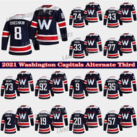 Washington Capitals Jersey Alternate Third 8 Alex Ovechkin 19 Backstrom 77 TJ Oshie 43 Tom Wilson 74 John Carlson 33 Chara Hockey Jerseys
