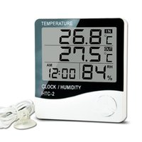 LCD Digital Temperatur Instrument Luftfeuchtigkeitszähler Home Indoor Outdoor Hygrometer Thermometer Wetterstation mit Uhr