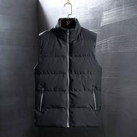 Popular Autumn and winter vest down padded jacket Korean style trendy waistcoat sleeveless thick warm men's clothing