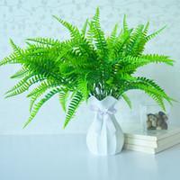 Arbustes artificielles plantes plastique herbe persane Fern feuilles fausses buissons mariée maison jardin table décoration JK2102XB