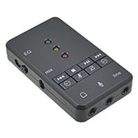 TISHRIC 외부 USB 사운드 카드 어댑터 7.1 채널 3D 오디오 헤드셋 마이크 3.5mm의 잭을 위해 PC 노트북 윈 XP / 78 리눅스