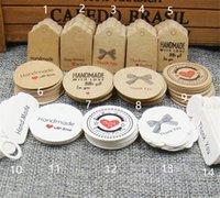 100шт мульти мило коричневый белый бумага подарок маркирующие ювелирные изделия ручной работы очаровывает теги круглые свадебные вещицы печенье декоративные теги