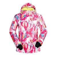 2020 Kadınlar Kayak Ceket Snowboard Giyim Windproof Su geçirmez Açık Spor Giyim Kış Giyim Kadın Kayak Coat Kapşonlu