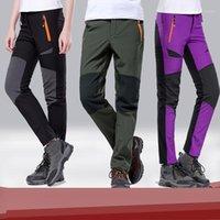 Marca 2021 hombres Mujeres Senderismo Pantalones al aire libre Softshell Pantalones Impermeable A prueba de viento Mountain Mountain Ski1