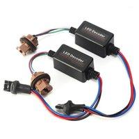 기타 조명 시스템 자동차 조명 7443 LED 헤드 라이트 용 버스 오류 무료 디코더 DRL 신호 브레이크 램프 1