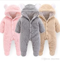 Designer Baby Clothes Solid Baby Girls Hooded Rompers Warm I...