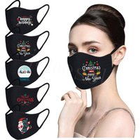 Christmas cotton respirator dust respirator pure black blank...