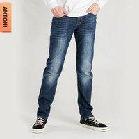 Jeans masculinos Shabiqi 2021men Los hombres estirados elásticos de algodón pantalones de mezclilla suelta Pantalones de ajuste Marca Menswear1