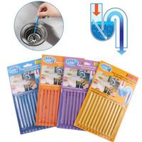 12PCS Sani Boru Hattı Mutfak Tuvalet Küvet Dekontaminasyon Rod Kanalizasyon Temizleme Koku Kokusuz Kat Organizat GGE2207 Sticks