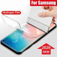 Cobertura completa curva protetor de tela 3D película macia para samsung s8 s9 mais s10 s10e s20 s21 nota 8 9 10 20 não temperado vidro