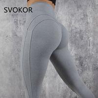 SVOKOR Workout Push Up Fitness Female Fashion Patchwork Mujer S-XL Schwarz-Gamaschen-Frauen 201116