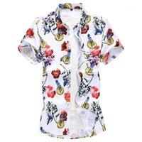Erkek Casual Gömlek C231 3D Dijital Baskı Erkekler Giyim Moda Kısa Kollu Gömlek Yaz Kalitesi Yumuşak Rahat Camisa Masculina Boyut M