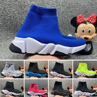 Balenciaga 2020 Fashion Speed Trainer Triple-Black City Sock Knit Women Sport Sneaker Girls Boy Youth Kid Niños Zapatos de corredor