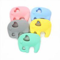 Chenkai 2pcs Elefante de silicone Teether DIY Bebê Animal Chupeta Dummy Dummy Enfermagem Soother Sensory Jewelry Brinquedo Presente BPA Free Y1221