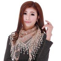 Mujer triángulo mantón moda envoltura señora chal lace sheer floral impresión bufandas otoño invierno accesorios