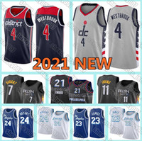 WashingtonWizards2021 NEW Russell 4 Westbrook LeBron 23 James Jerseys LakersKyrie Kevin 7 Durant 11 Irving BRYANT Basketball
