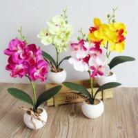 3 têtes artificielles faux papillon orchidée orchidée de la vie remplie pour maison jardin décor de mariage arrangements fleur esthétique fournisseur1