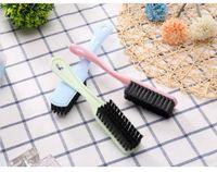 متعددة الوظائف فرشاة الأحذية البلاستيكية مع مقبض طويل، فرشاة ناعمة hangable، التطهير الغسيل وحذاء فرشاة تنظيف