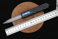 Micro dragon slaughtering Damascus automatic knife self defe...