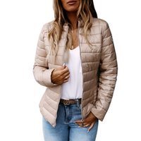 Autumn Coat Women Ultralight Thin Cotton Jacket Short Parkas...