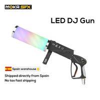 Испания Фондовый портативный LED CO2 Jet Machine DJ Gun Special Effects Club Cannon RGB 3 Color Fogger для дискотека