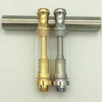 Prix usine 350 mAh Préchauffez la batterie ECIG Vape Stylo Recharge Huile Cartouches de céramique Pyrex Coque en métal Pyrex Coque en métal