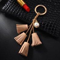 جديد شخصية الذهب جلد الشرابة مفتاح سلسلة المرأة حقيبة سحر حلقة رئيسية عيد الحب هدية المرأة مجوهرات المفاتيح EH312 H JLLDQC