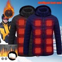Электрический теплый куртки жилет вниз хлопка Открытый Coat USB Электрический обогрев с капюшоном Зимняя Термальная грелка куртки Зимние Открытый