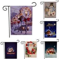 أعلام مزدوجة الجانبين حديقة أعلام سلسلة عيد الميلاد الكتان حزب راية راية DIY مهرجان الديكور Accessiories 47 32CM *