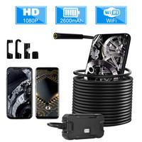 Y13 배터리 화면 디스플레이와 함께 5.5mm WiFi 내시경 카메라 HD1080P 방수 검사 Borescope 아이폰 안드로이드 폰