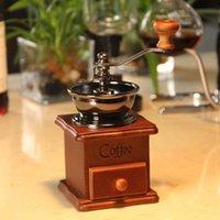 Moedores de café manual moedor de feijão de madeira aço inoxidável aço inoxidável spice mini murrinho com cerâmica