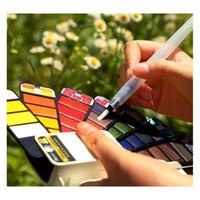Üstün katı suluboya boya seti acemi dolma kalem çocuk fan şeklindeki suluboya boya öğrenci boyama wmtibh homes2007