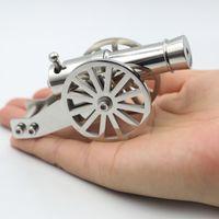 Miniatura de acero inoxidable Napoleon Cannon Metal Naval Desktop Model Kit de artillería para la colección Un proyectil puede ser despedido 201111