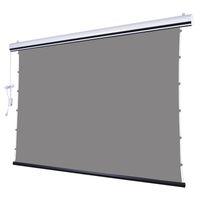 16: 9 جدار السقف الكهربائية مزودة بمحركات المنسدلة الإسقاط شاشة العرض ث الكريستال السوداء ALR الضوء المحيط رفض