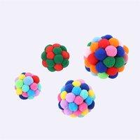 Gatos Kitty Elastic Balls Handmade Divertido Flexível Algodão Pequeno Bola Bola Colorido Cat Pets Toy Fontes Nova Chegada 3 8si M2