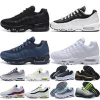 max 95 airmax Utility Uomini Donne Scarpe da corsa degli uomini Triple Nero Blu Scuro Bianco Nero Worldwide Uva mens scarpe da ginnastica Scarpe sport esterni