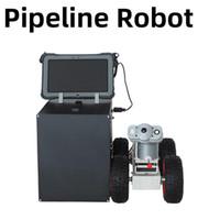 Kameralar Boru Hattı Muayene Robotu 5 Milyon HD Kamera Win10 Sistemi Kızılötesi Ranging Belediye Endüstriyel Endoskop