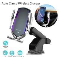 Automatisches Spinnen 10W Qi Auto Wireless-Ladegerät für iPhone 11 Pro X Xs MAX Infrarot-Induktions-Schnellladegerät Standplatz-Auto-Telefon-Halter