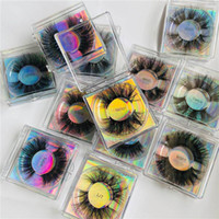 27mm 25mm Lange Mink Wimpern Fluffy 3D Mink Lashes Großhandel Wispy 3D Mink Wimpern Hersteller Make-up-Tools