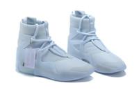 흰색 x 하나님에 대한 두려움 1 순수한 백금 삼중 백색 남성 농구 신발 운동화 안개 1 오프 망 트레이너 상자