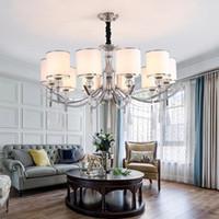 Lustre à LED pour salon Chrome Cristal Chambre à coucher Restaurant LED Chandelier de plafond pour Villa Loft Éclairage