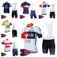 Mens Summer Iam Team Cycling Manica corta Jersey 9D Bib Shorts Set Traspirante Abbigliamento per biciclette Abbigliamento sportivo all'aperto Ropa Ciclismo F072218