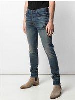 Hot Top Quality A Star Jeans Miri Slim Motorcycle Pantalones de mezclilla Diseñador de moda Hip Hop Mens Jeans HQ66