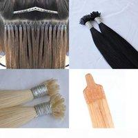 100% cheveux humain brin 200g pointe 1 g terrain plat extensions nano cheveux emmêler plat Nano brazilian sans perte sans pointe Hair Extensions