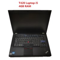 For Lenovo T420 Laptop I5 CPU 4gb RAM Diagnostic Testing Computer T420 can work for alldata soft-ware MB STAR C4 C5 C6