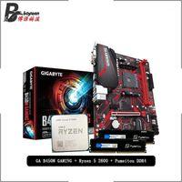AMD RYZEN 5 2600 R5 2600 CPU + GIGABYTE GA B450M Oyun Anakart + Puguitou DDR4 2666MHZ Rams Takım Soket AM4 Soğutucu olmadan1