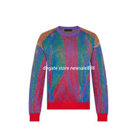 새로운 디자이너 브랜드 남성 스웨터 럭셔리 영국 고품질 스웨트 코튼 레트로 까마귀 레저 여성 느슨한 커플 풀오버
