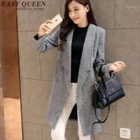 Women trenchcoat 2020 fashion blaser trench coat for women winter coat 2020 KK1609 H1